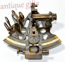 "5"" KELVIN HUGHES ANTIQUE MARINE SEXTANT SOLID BRASS ASTROLABE NAUTICAL SEXTANT"
