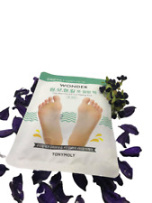 TONYMOLY Wonder Exfoliating Foot Peel Mask 1 Pack -Baby Soft Feet Rmove Calluses