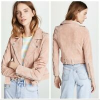 Blank NYC Women's Suede Leather Asymmetrical Moto Jacket - XS