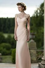 Designer dusty pink TRUE BRIDE bridesmaid debs evening dress size 6-8 pippa vg v