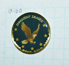 "FBI INNOCENT IMAGES UNIT CRIMES AGAINST CHILDREN FEDERAL BUREAU 1"" LAPEL PIN"