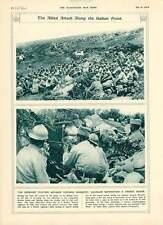 1916-Máscara de gas de avance de Monastir serbio entrenamiento Somme alemán prisionero