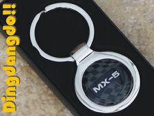 Mazda MX5 Chrome Keyring Key Ring Gift