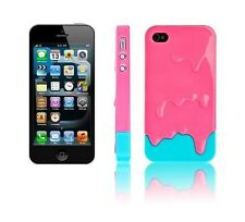 Pink Blue Melting Ice-cream Hard Skin Back Case Cover For Apple iPhone 5S 5 4G