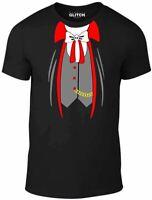 Men's Vampire Suit T-Shirt - Dracula Halloween Costume Outfit Fancy Dress Shirt