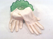 VINTAGE CIRCA 1950'S LACE WHITE COTTON DRESS GLOVES- 6 1/2-COSTUME-THEATER