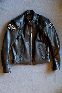Vanson Full Throttle Leather Motorcycle Jacket, Small