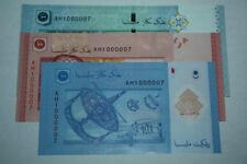 (PL) NEW SALES: RM 1 RM 10 RM 50 AH 1000007 UNC 3 PCS SAME PREFIX & NUMBER