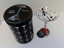 Lolita The Martini Collection Shop Til You Drop Hand Painted Glass Wine Martini