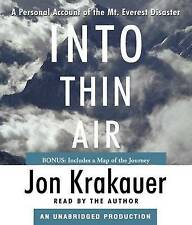 Into Thin Air: A Personal Account of the Mt. Everest Disaster by Jon Krakauer (C