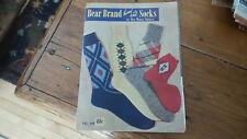 Bear Brand HAND KNIT SOCKS for Men,Women,Children Instruction Book #340, 1950