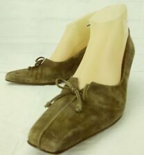Peter Kaiser Womens Shoes Heels US 8.5 UK 6 Brown Suede Slip-on Bow Work 5210