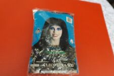 Vintage Cleopatra one size Egyptian Black Wig in pack flame Retardant
