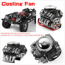 For 1/10 RC Crawle TRX4 SCX10 RC4WD D90 GRC V8 Simulate Engine Motor Cooling Fan