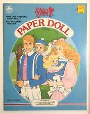 The Heart Family Paper Dolls Uncut 1985 Golden Book Mattel Unpunched