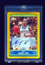RANDY FOYE 2006-07 TOPPS CHROME GOLD REFRACTOR AUTO RC #/25 BROOKLY NETS
