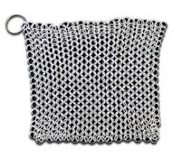 """SE 70038 7""""X7"""" CHAINMAIL SCRUBBER WITH """"O"""" RING cleaning chain mail renaissance"""