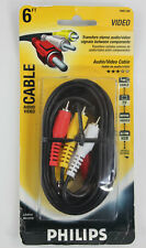 Philips 6ft. RCA Audio Video Cable Transfers Signals NEW~!