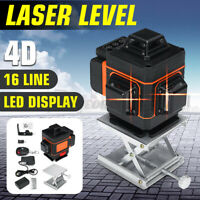 3D Laser Level 16/12 Line LED Display 360° Rotary Self Leveling Measure Machine