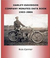 Harley-Davidson Motorcycle Company Minutes Data Book 1903-2006  ~418 pgs~ NEW!
