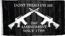3x5 Black Gadsden 2nd Amendment Don't Tread on me 2 Assault Rifle flag 3'x5'