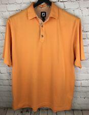 Footjoy Polo Shirt Men's L Peach Polyester/Spandex Blend