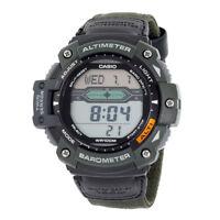 Casio Men's Quartz Twin Sensor Gray Accent Green Nylon 50mm Watch SGW300HB-3AV