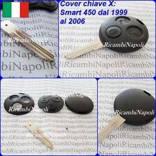 Chiave Cover Telecomando Guscio a 3 Tasti X SMART FORTWO 450 COUPE 1999 al 2006