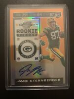 Jace Sternberger Contenders Rookie Ticket Optic Prizm Orange Auto /50 2019