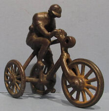 **ON SALE** OLD ORIG IVES? CAST IRON 3 WHEEL TRICYCLE / BICYCLE & RIDER PULL TOY