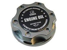 GUNMETAL SYNTHETIC BILLET RACING ENGINE OIL FILLER CAP FOR 05-12 FORD MUSTANG BK