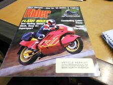 NOS NEW Vintage Brochure BMW 1990 K1 Rider Full Report