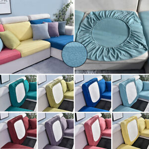 2 Size Slipcovers Protector Replacement Stretchy Sofa Cushion Cover Home Decor