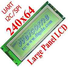 Serial: UART/IIC/I2C/SPI 240x64 Grafik LCD Display Modul für Arduino/PIC/AVR