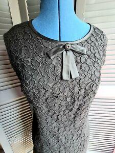Vintage Little Black Dress, 1960's,  Lace, Mod, Size 8-10