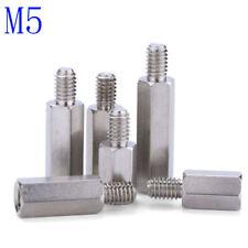 M5 Male-Female 303 Stainless Steel Hex Column Standoff Support Spacer Screws Nut