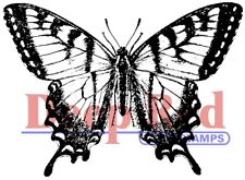 Deep Red Stamps Swallowtail Butterfly Rubber Cling Stamp
