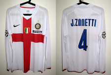 Inter Milan jersey centenary 2008 away sleeve match worm zanetti playera shirt