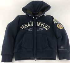 Parajumpers Maritime Boys Youth Deep Pile Lined Hoodie Sweatshirt Blue Size 8
