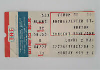BOSTON Rock Group 5/2/1977 Concert Ticket Stub Montreal Forum More Than Feeling