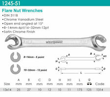 Whirlpower - Flare Nut Wrench, Satin Finish 13x14mm - Automotive Tools NEW