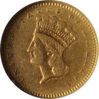 1859-S Type 3 Liberty Gold $1 NGC XF45 Great Eye Appeal Nice Strike