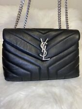 YSL Yves Saint Laurent Small Loulou Matelassé Leather Shoulder Bag