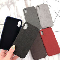 Winter Flax Cloth Texture Ultra TPU Silicone Case Cover For iPhone 6 6s 7 8 X Xs