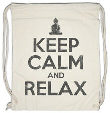Keep Calm And Relax Drawstring Bag Fun Chill Chiller Sleep Sleeping