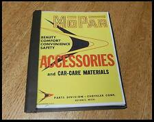 New 1956 Mopar Accessory Catalog Plymouth Chrysler Dodge DeSoto Imperial gift