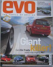 EVO magazine 09/2005 featuring Renault Sport Clio,BMW M6,Vauxhall Astra VXR