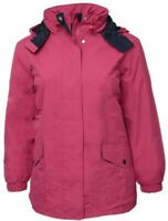 Size 20 22 24 Womens Warm Fleece Lined Jacket Rain Coat Pink Blue Parka Quality
