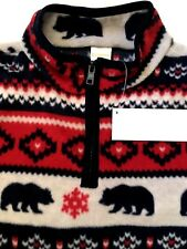 Gymboree Fleece Pullover Jacket Bear Blues Outerwear Boy Winter 7 / 8  Medium