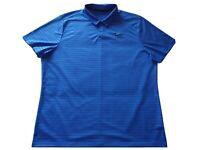 Nike Golf Dri-Fit Shirt Men's XXL Royal Blue LOGO Short Sleeve UV Protection